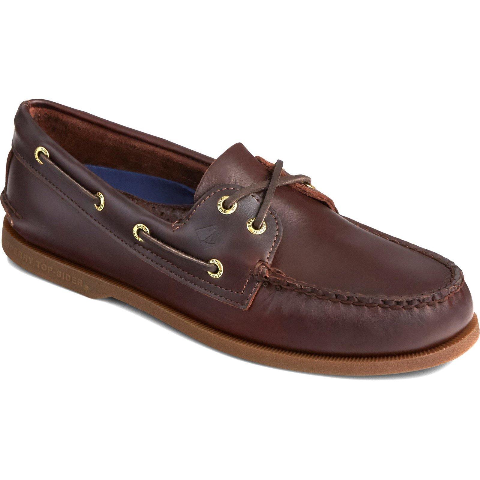 Sperry Men's Authentic Original Leather Boat Shoe Various Colours 31524 - Amaretto 10
