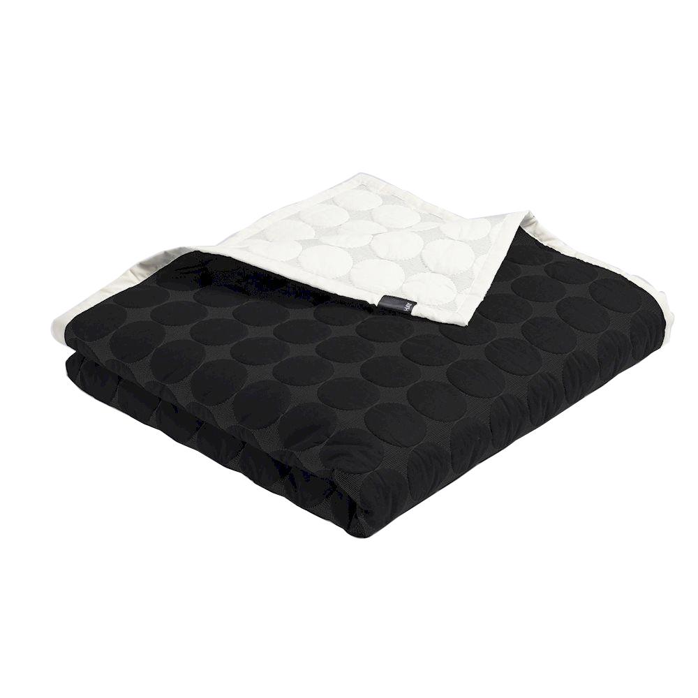 HAY - Mega Dot Quilt 235 x 245 cm - Black/Cream (508102)