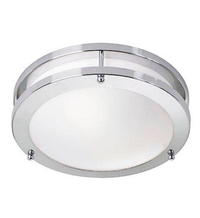 Täby LED Plafond Krom/Hvit