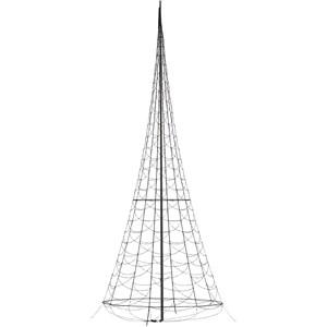 Julbelysning Fairybell Flaggstångsbelysning 8 meter, Flash 1500 LED