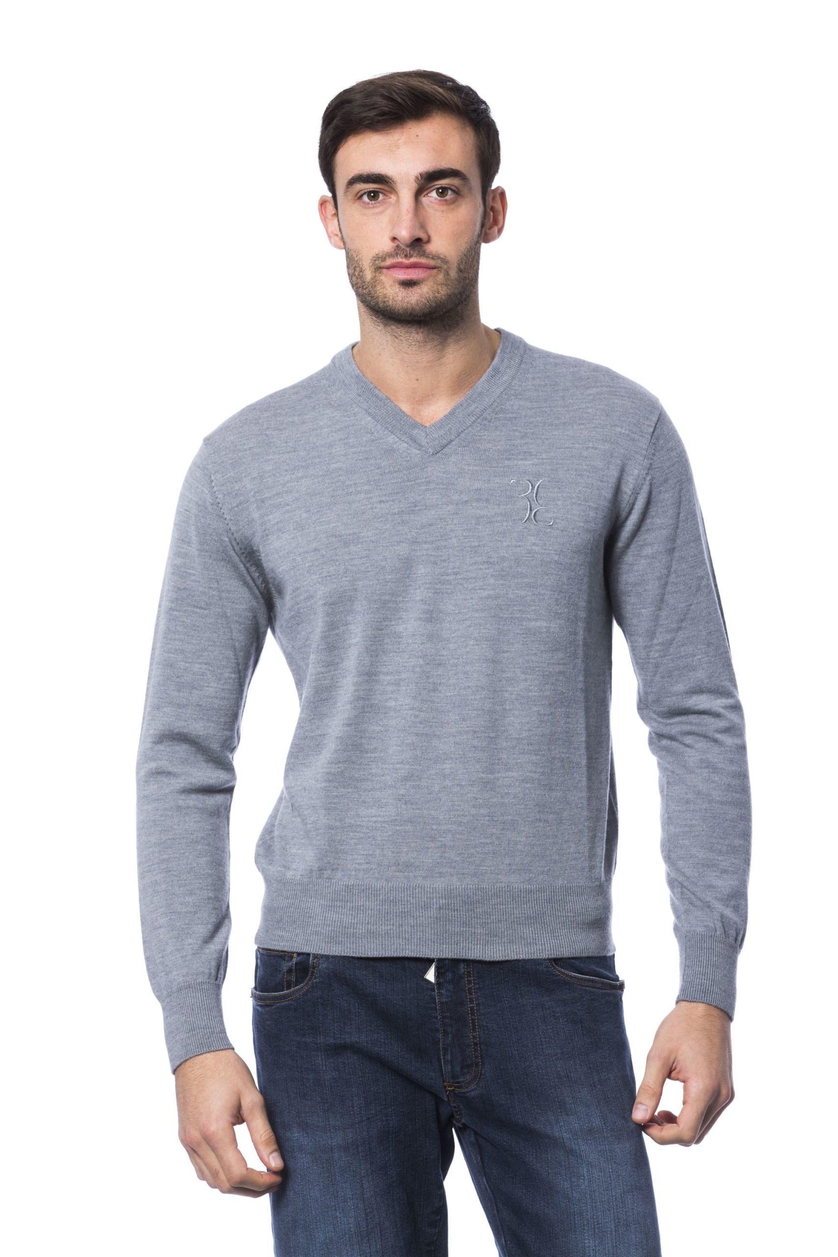 Billionaire Italian Couture Men's Sweater Grey BI816877 - S