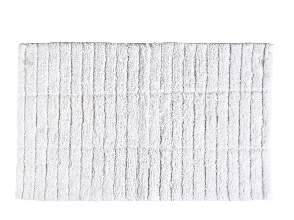 Zone - Tiles Bath Mat - White ( 13535)