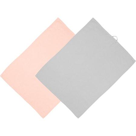 Kökshanddukar Rosa/Grå 2-pack 70x50 cm