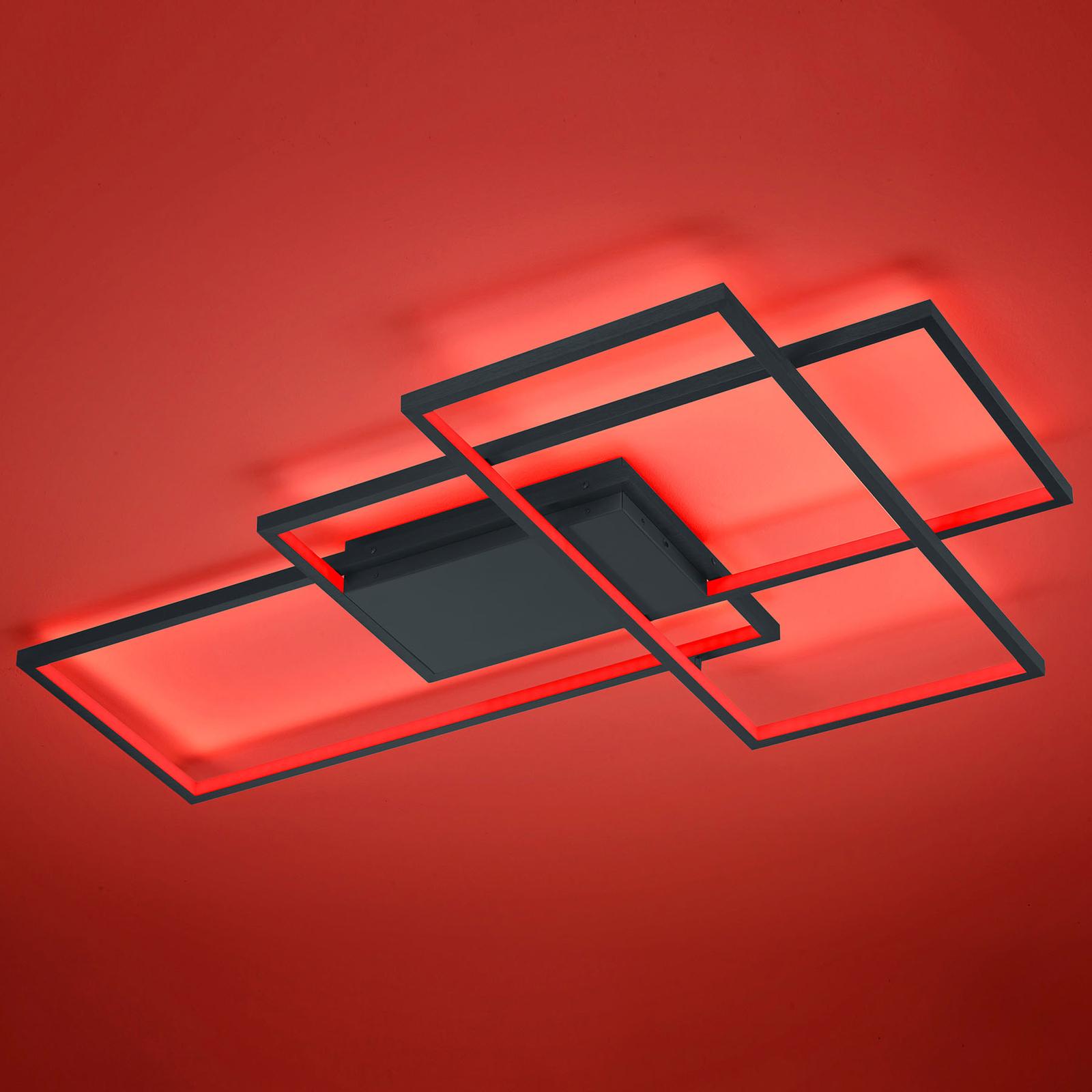 Trio WiZ Thiago LED-kattovalo 114 cm, antrasiitti