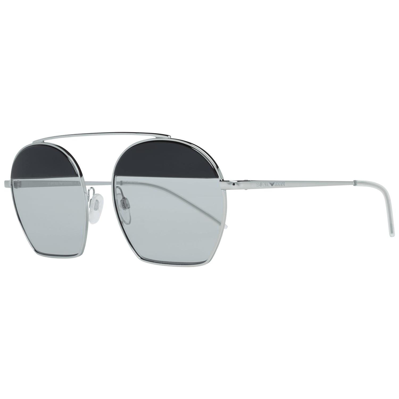 Emporio Armani Unisex Sunglasses Silver EA2086 30156G56