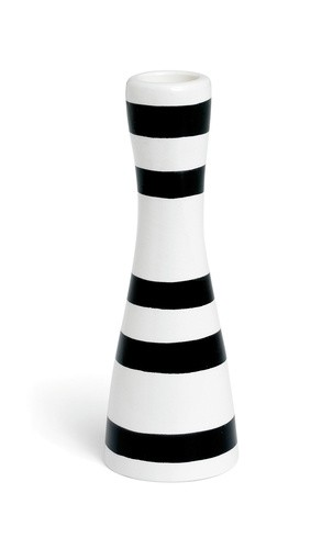 Kähler - Omaggio Candleholder Black - Small (690780)