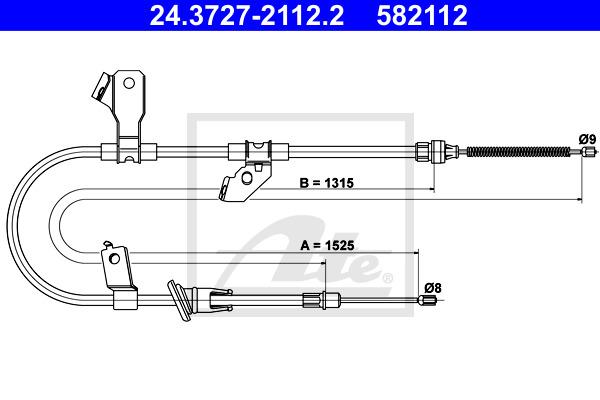 Käsijarruvaijeri ATE 24.3727-2112.2