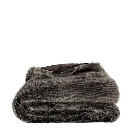 Leia Stripe Grey Pläd 150x260