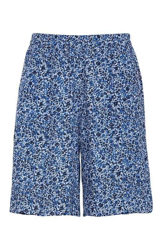 Cellbes Shorts i crepe Blå Mönstrad