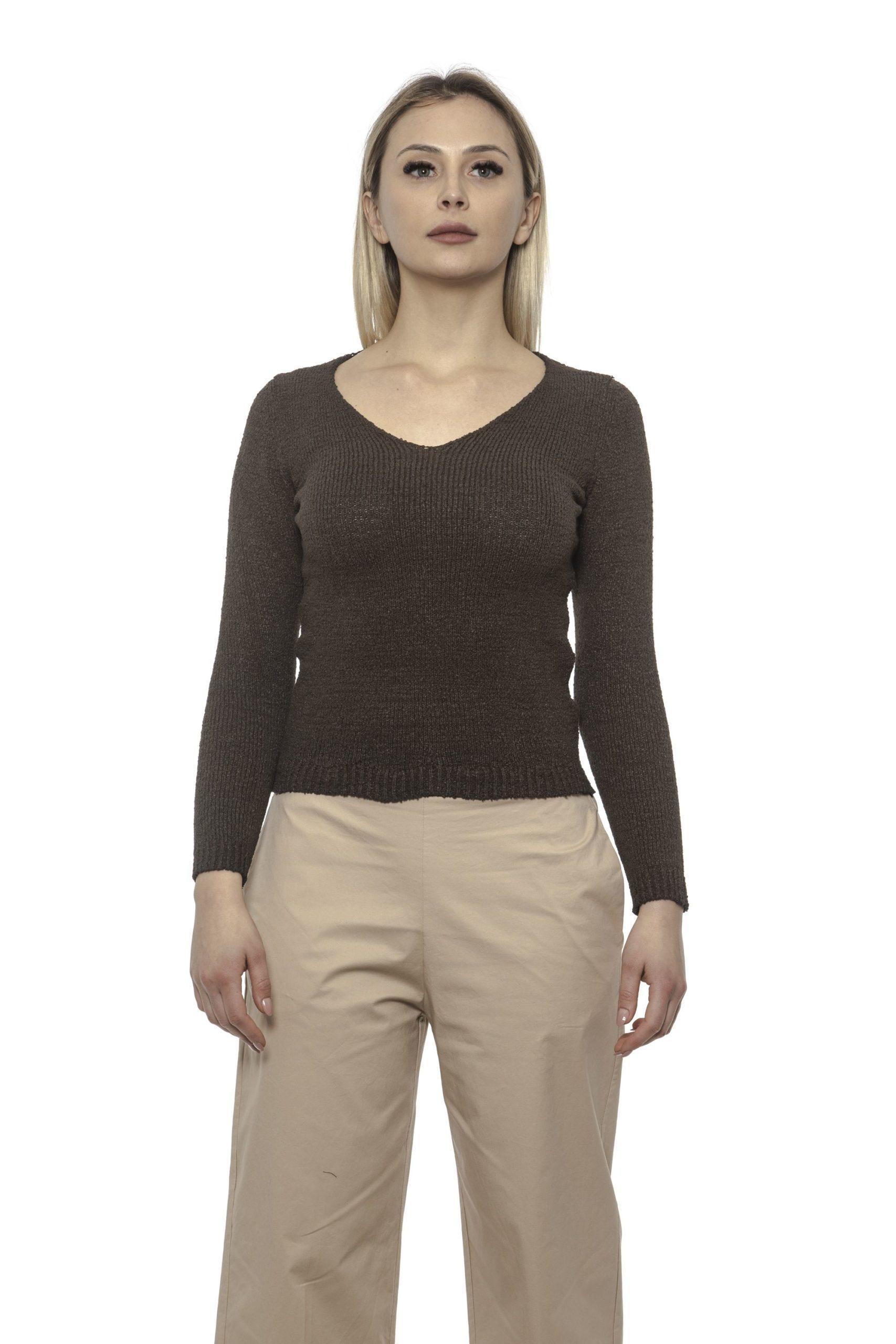 Alpha Studio Women's Moro Sweater Brown AL1375291 - IT40 | XS