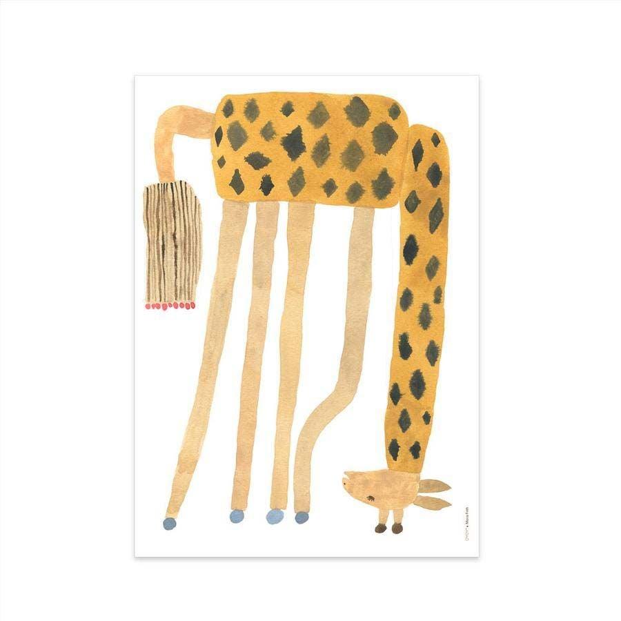 OYOY Juliste Noah Giraffe Upside Down