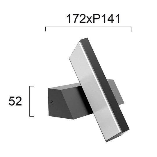 Utendørs LED-vegglampe Casteo, roterbar 350°