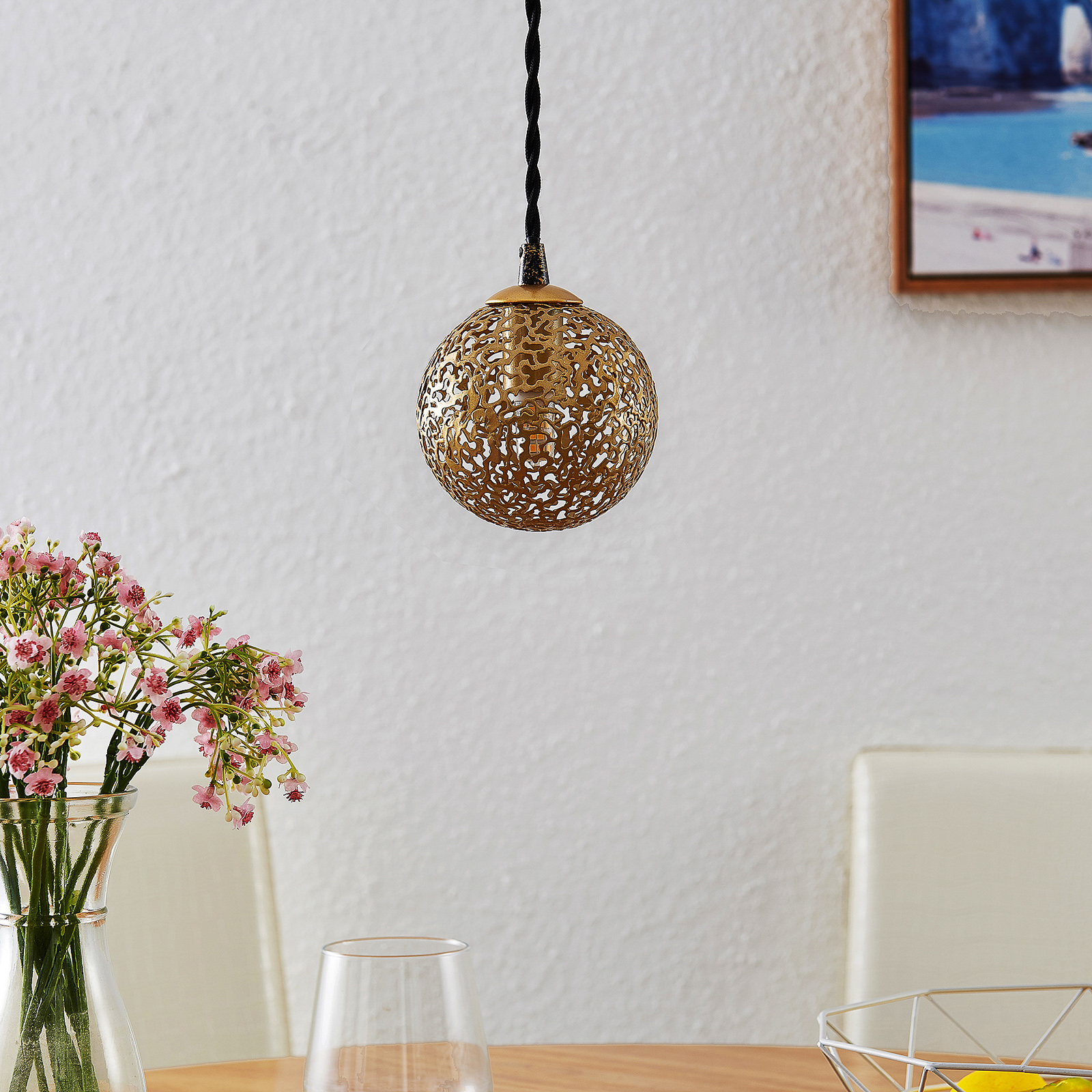 Lucande Zale -riippuvalaisin, 1-lamppuinen