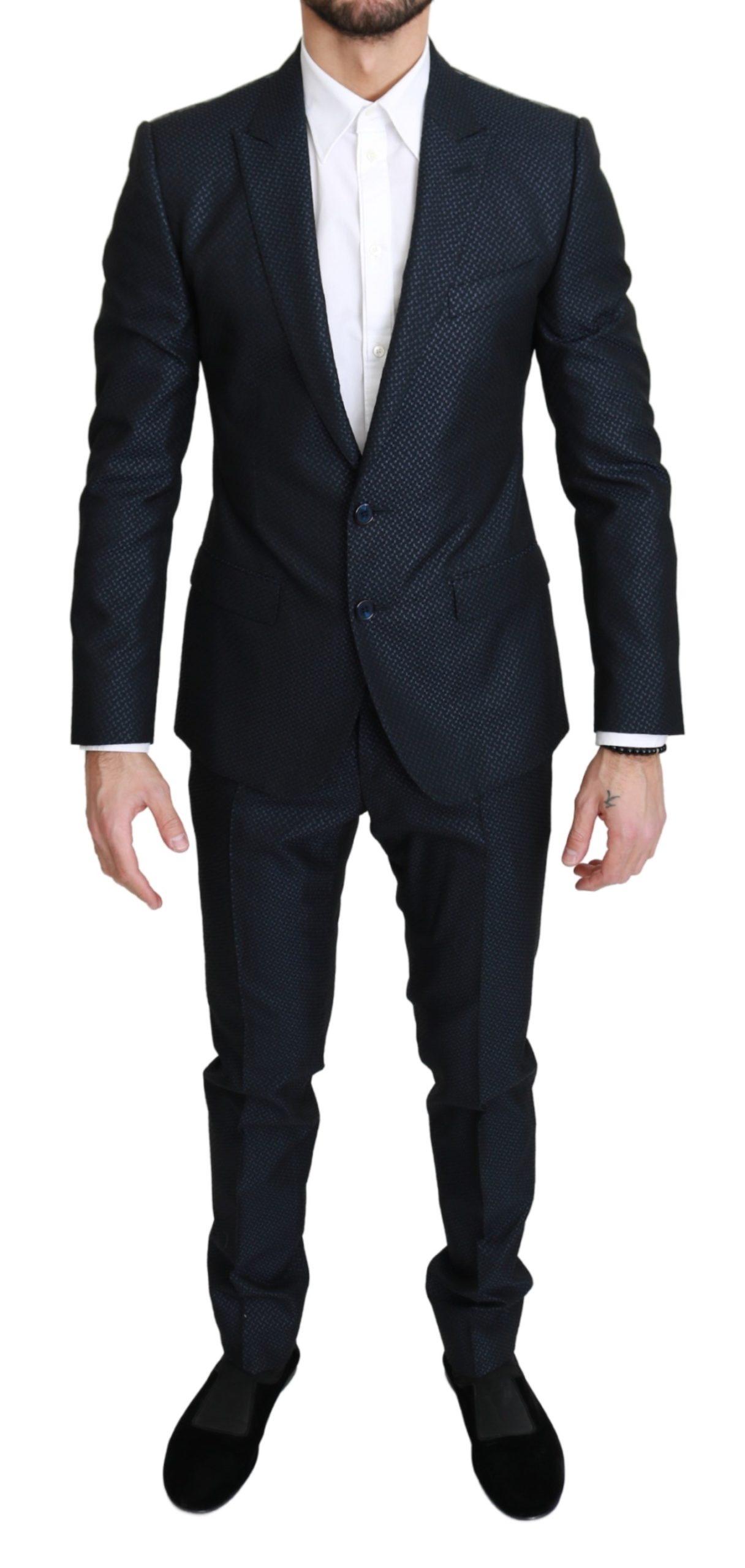 Dolce & Gabbana Men's Single Breasted 2 Piece MARTINI Suit Blue KOS1747 - IT46 | S