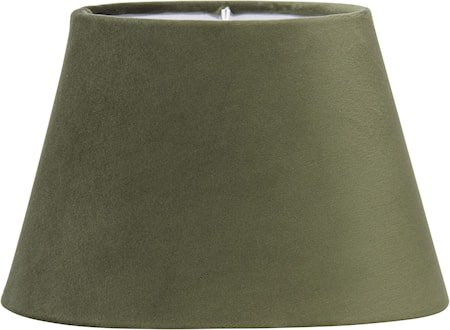 Lampeskjerm Oval Fløyel Grønn