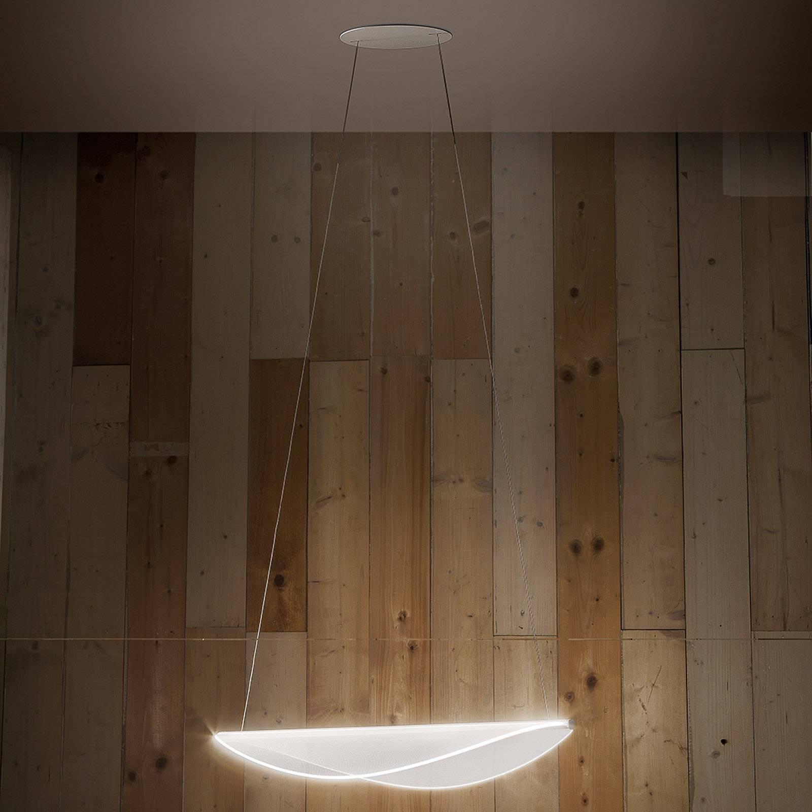 LED-riippuvalaisin Diphy, 76 cm, DALI-himmennys
