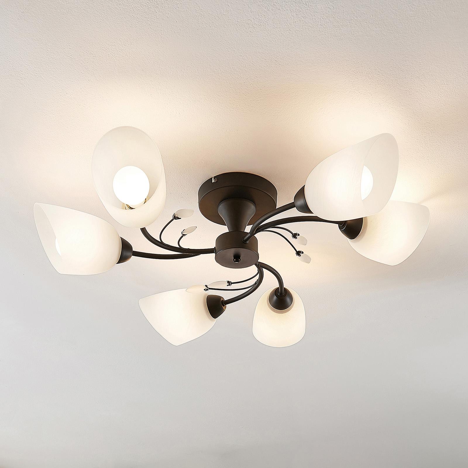 Lindby Amgad -kattovalaisin, kuusilamppuinen