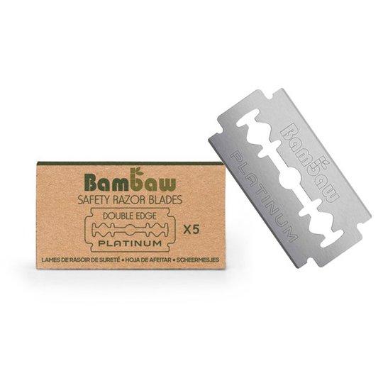 Bambaw Dubbeleggade Rakblad till Säkerhetsrakhyvel, 5-pack