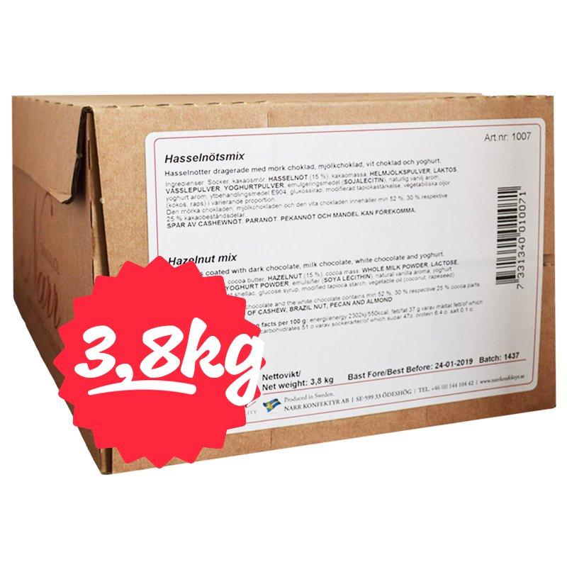 Hel Låda Hasselnltsmix 3,8kg - 74% rabatt
