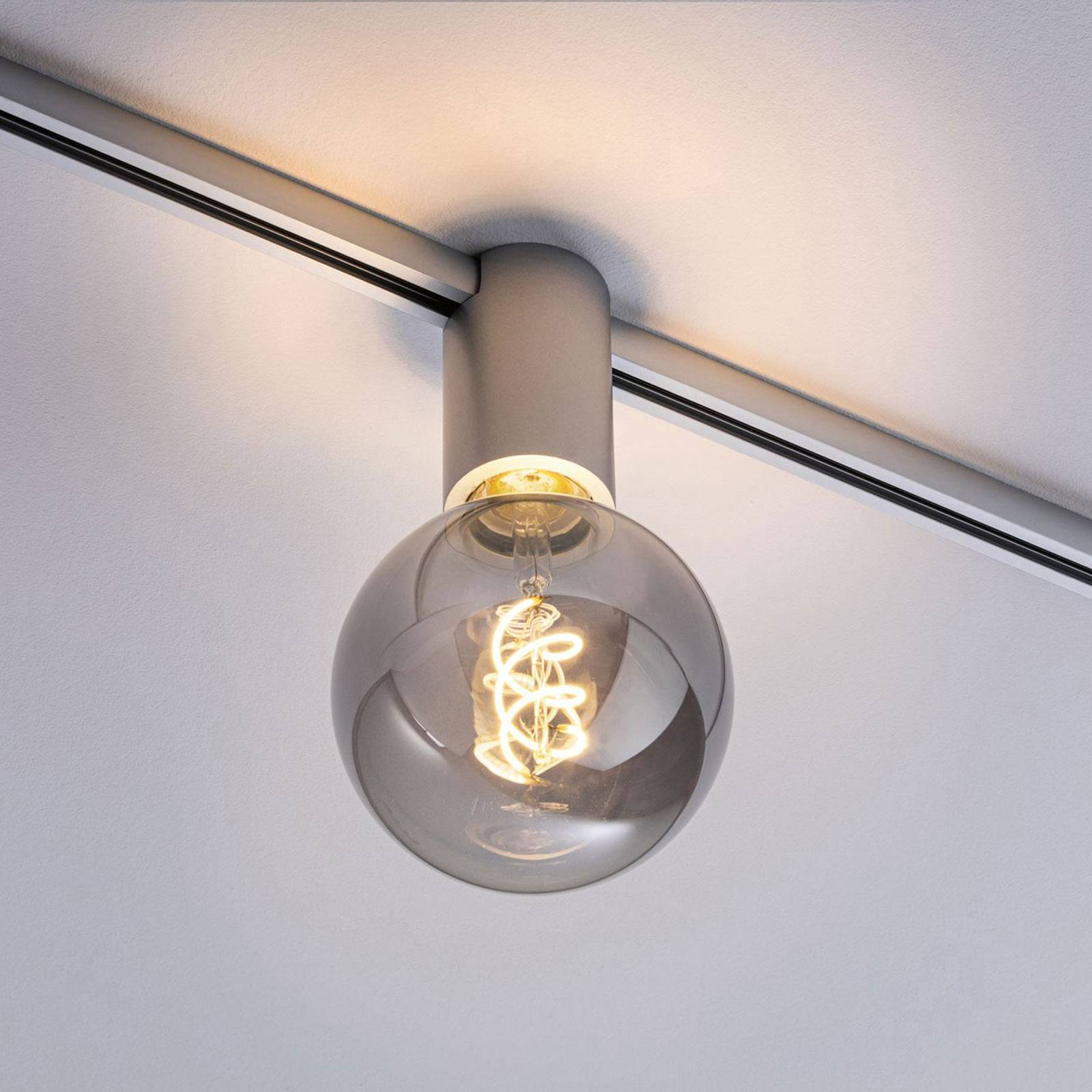 Paulmann URail Ceiling Socket E27, mattakromi