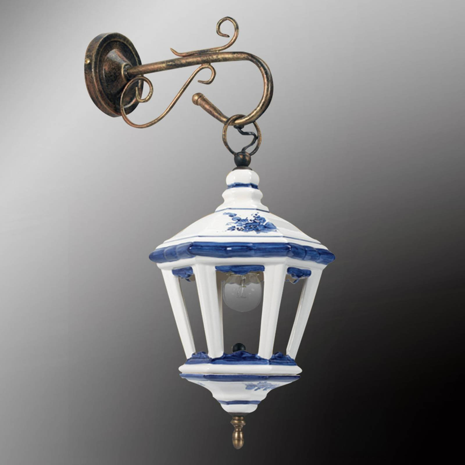 Keramisk vegglampe Viola - lanterne