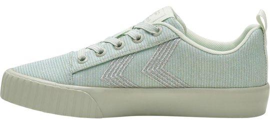 Hummel Base Court Glitter Jr Sneaker, Pale Aqua, 26