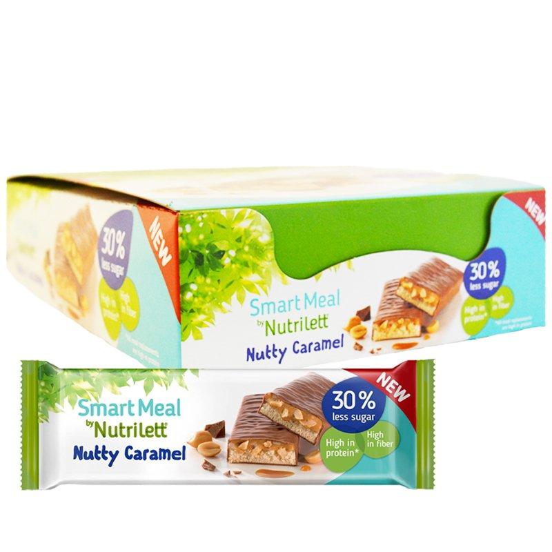 """Laatikollinen proteiinipatukoita """"Nutty Caramel"""" 15 x 60 g - 40% alennus"""