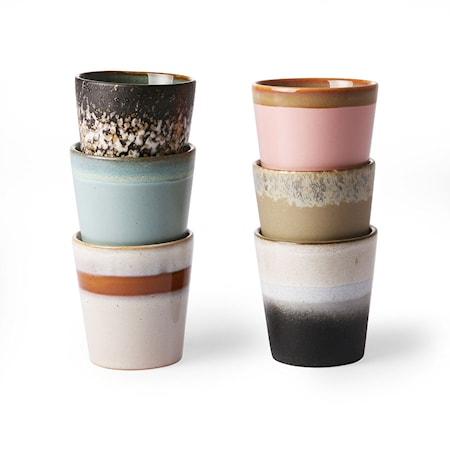 70's Keramik Muggar set of 6