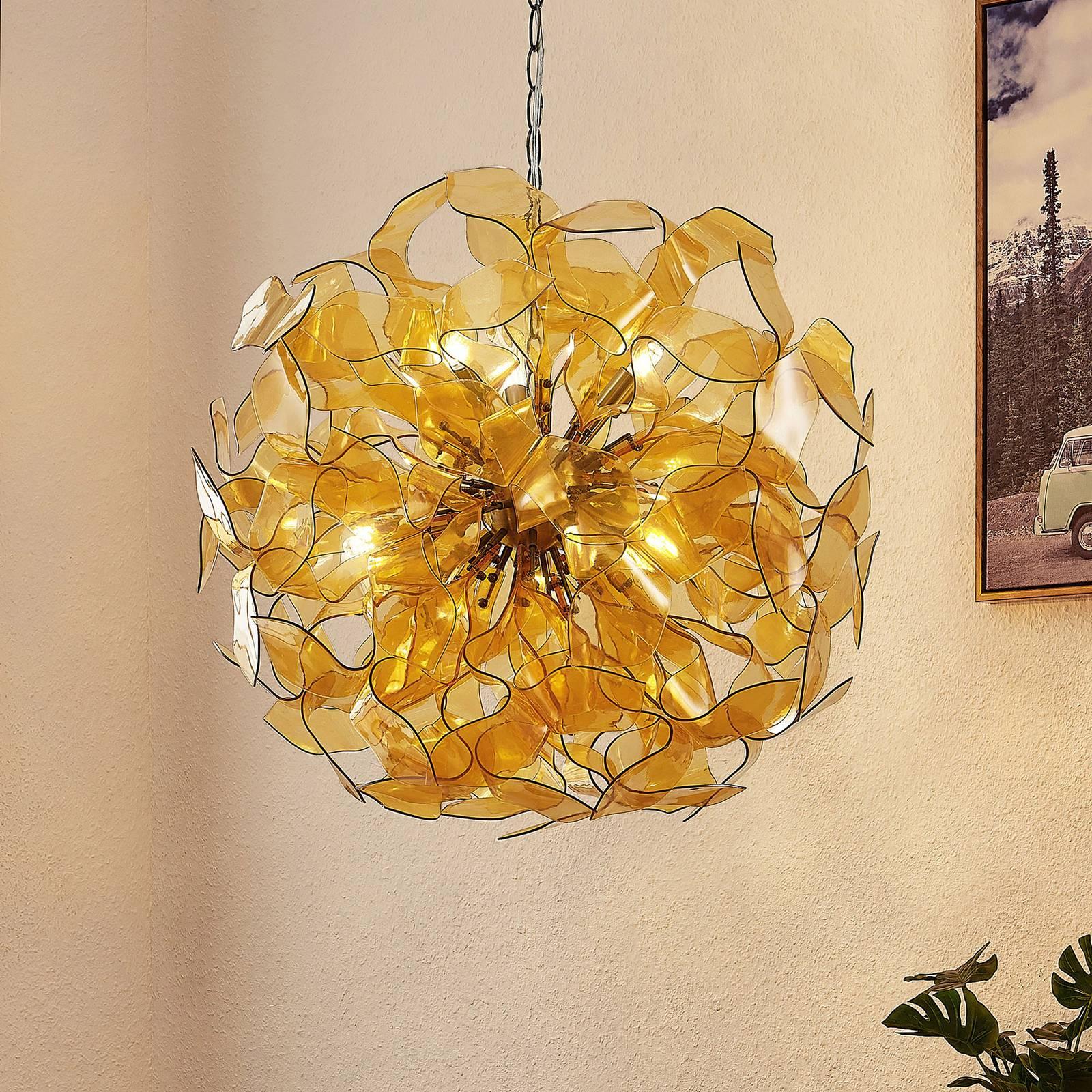 Lindby Moscalina -riippuvalaisin, amber