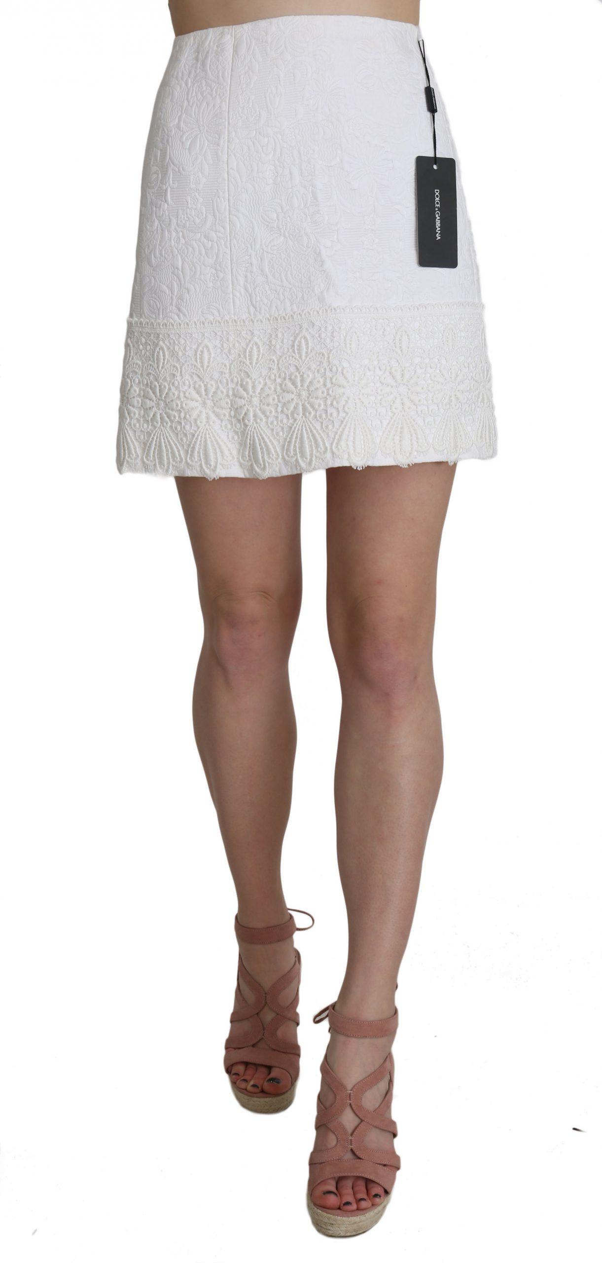 Dolce & Gabbana Women's Skirt White SKI1198 - IT36|XXS