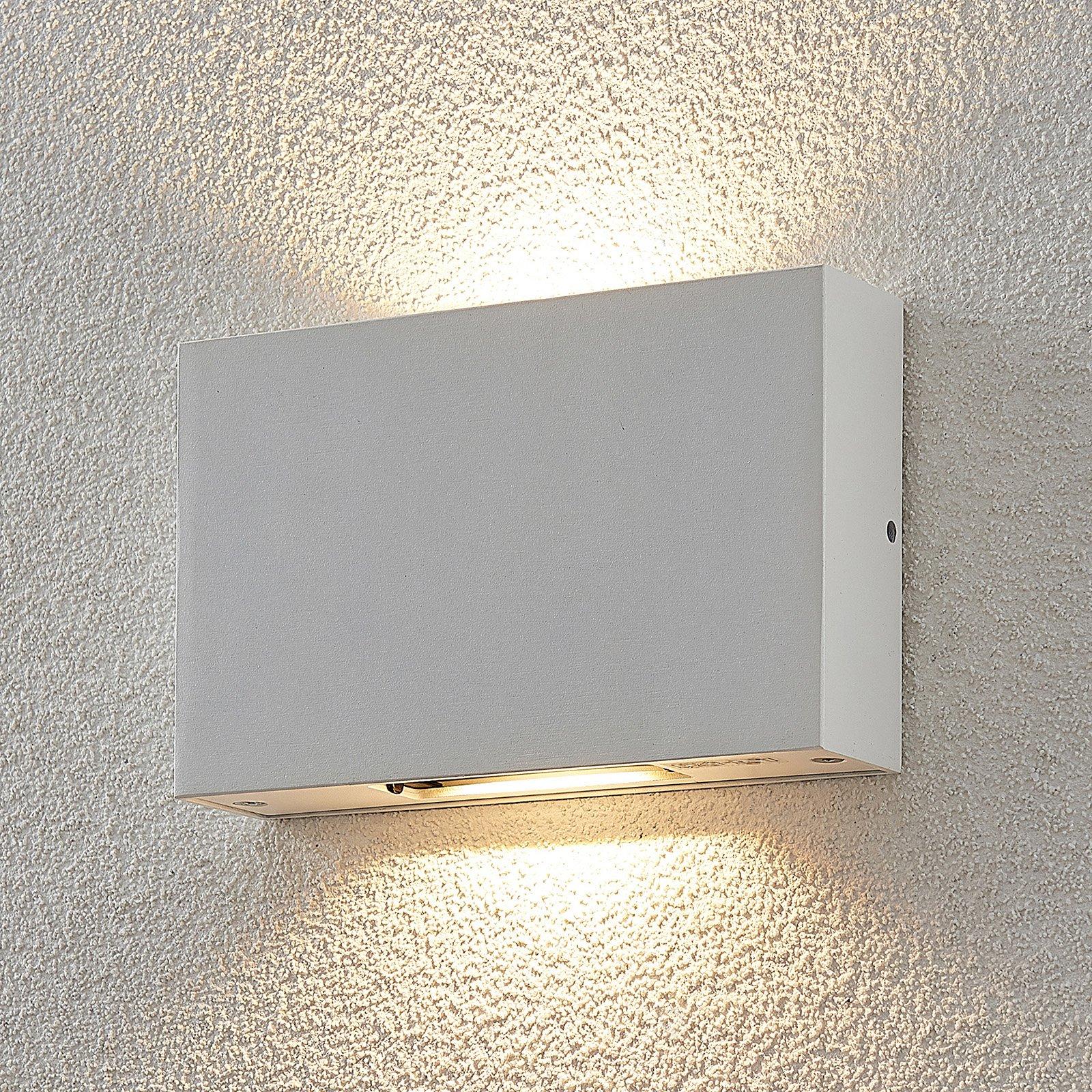 Utendørs LED-vegglampe Katla i aluminium