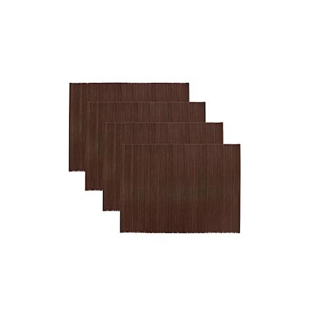 Bordstablett Bamb Brun 4 st