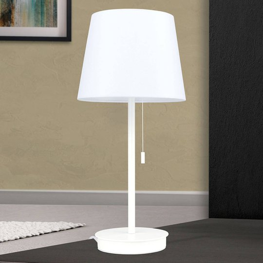 Ludwig bordlampe med USB-port hvit