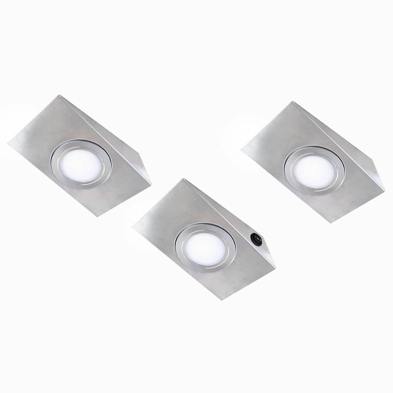 LED-kaapinalusvalo Keili, 3 kpl 2-vaiheinen kytkin
