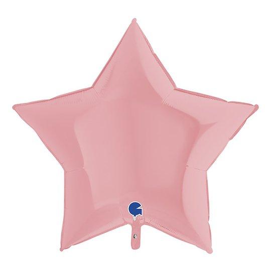 Folieballong Stjärna Pastellrosa Matt