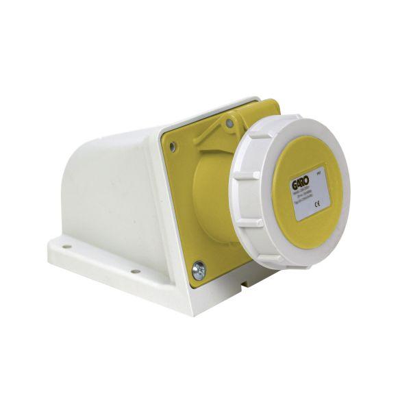 Garo UIV 432-4 S + RU Seinäpistorasia IP67, 5-napainen, 32A Keltainen, 4 h
