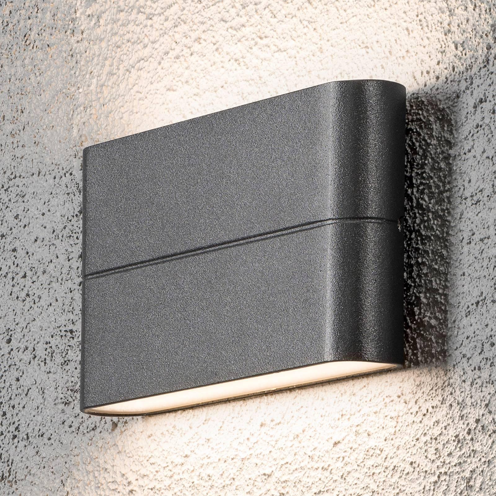 Chieri utendørs LED-vegglampe 17 cm antrasitt