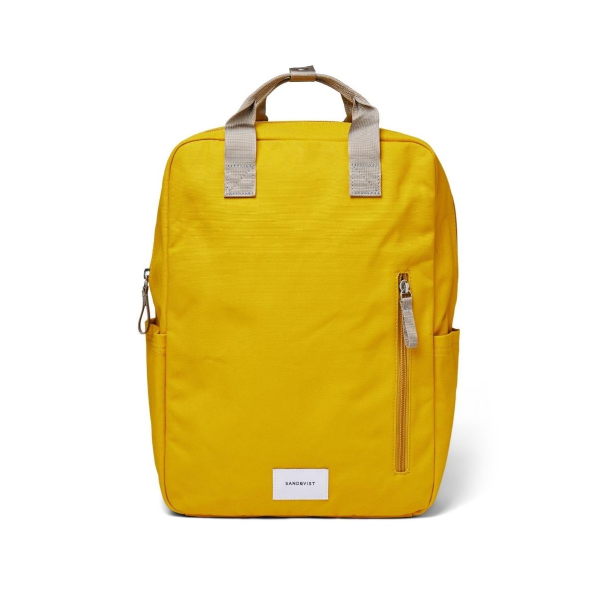 Sandqvist Backpack Knut Yellow/Grey