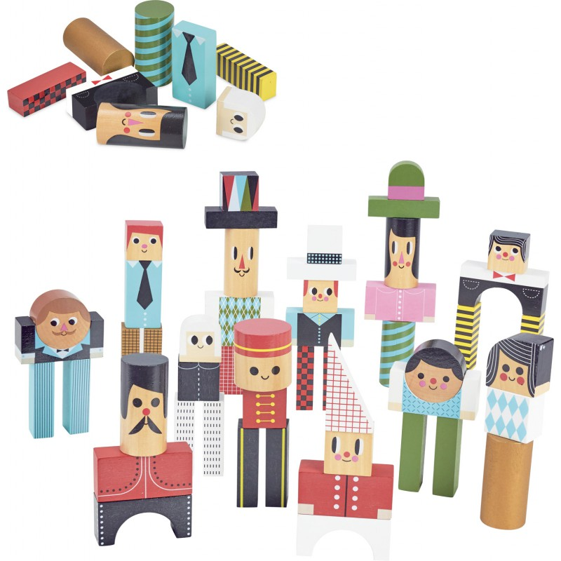 Vilac - Construction blocks with characters (7717)