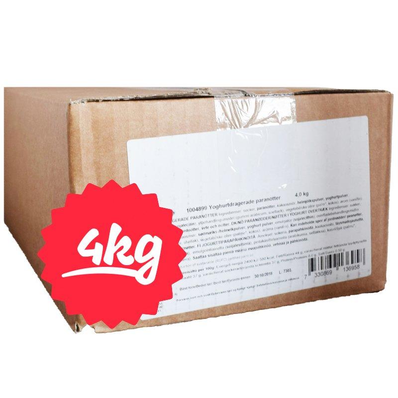 Hel Låda Yoghurtdragerade Paranötter 4kg - 75% rabatt