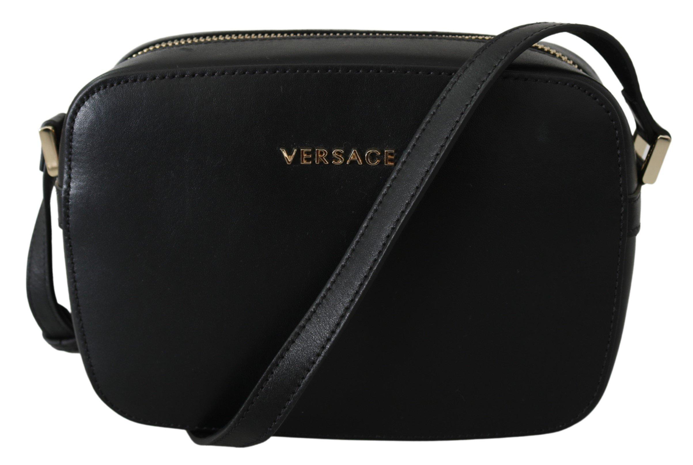 Versace Women's Leather Crossbody Bag Black 8053850421640