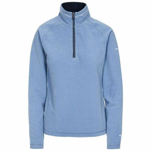 Trespass Women's Half Zip Top Fleece Various Colours Skylar - Denim Blue XS