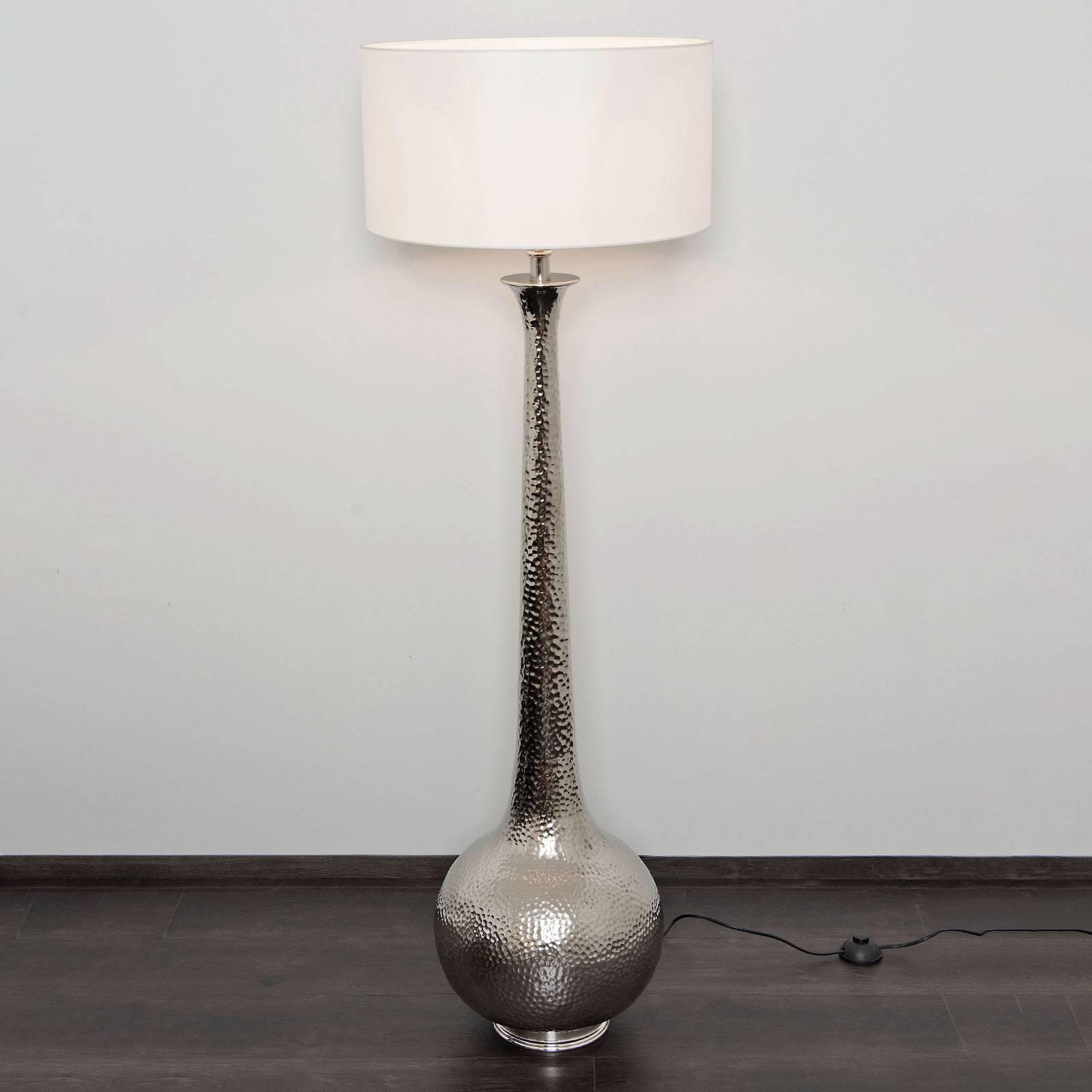 Gulvlampe Maestro, hvit/sølv