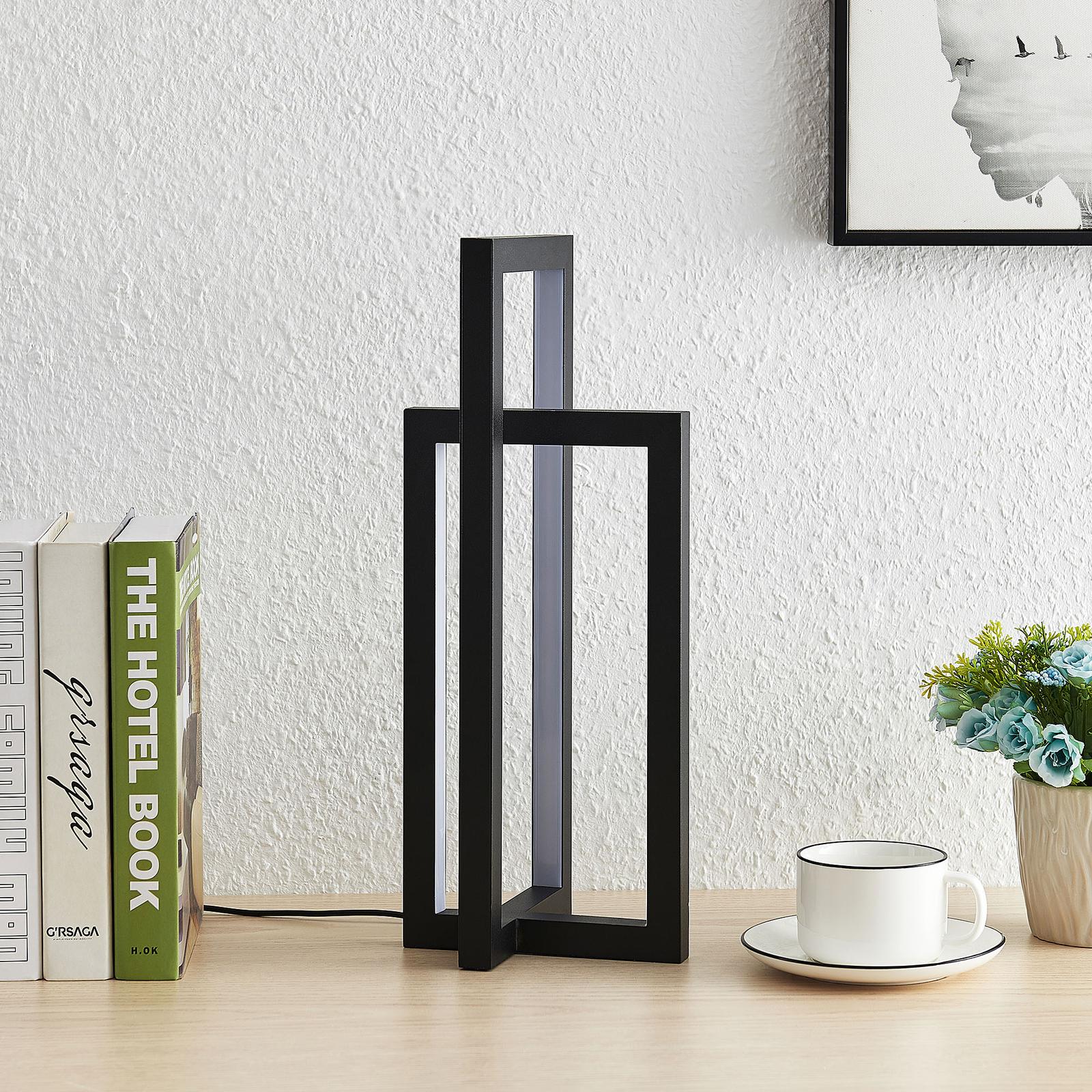 Lucande Hylda -LED-pöytävalaisin, musta