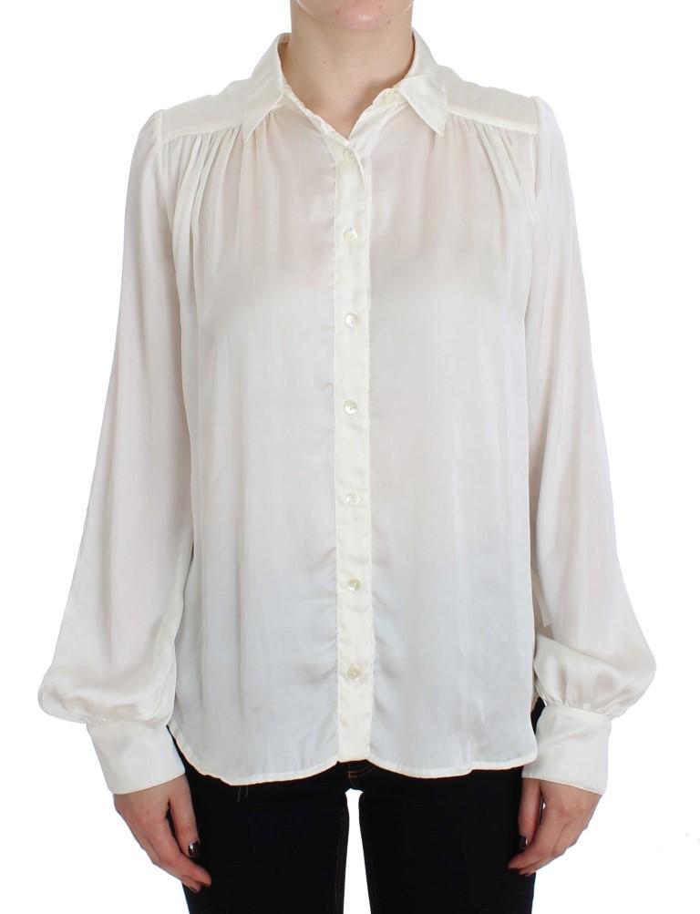 PLEIN SUD Women's Button Down Shirt White SIG32537 - IT42   S