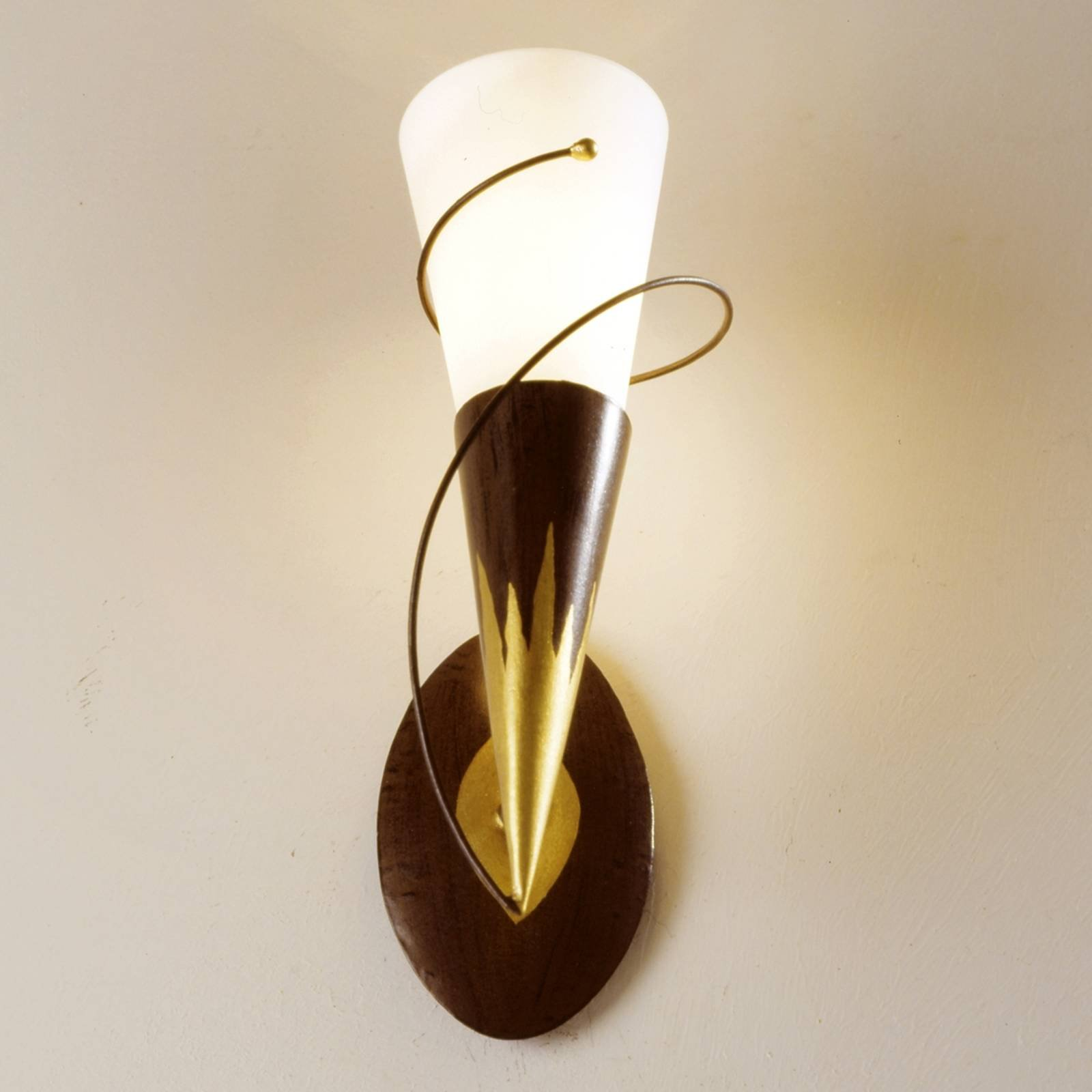 Torcia Spirale vegglampe med ett lys