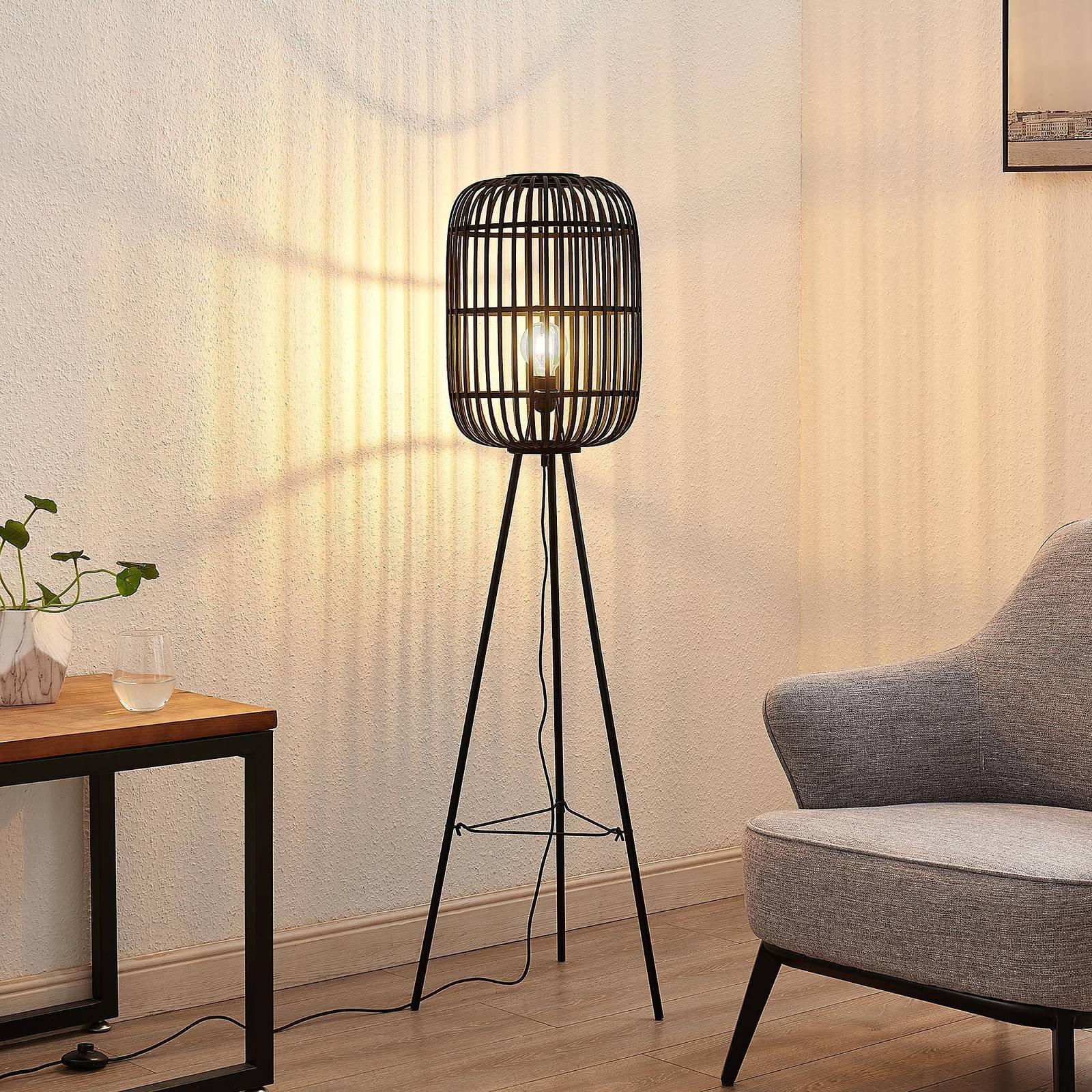 Lindby Canyana gulvlampe av rotting, svart