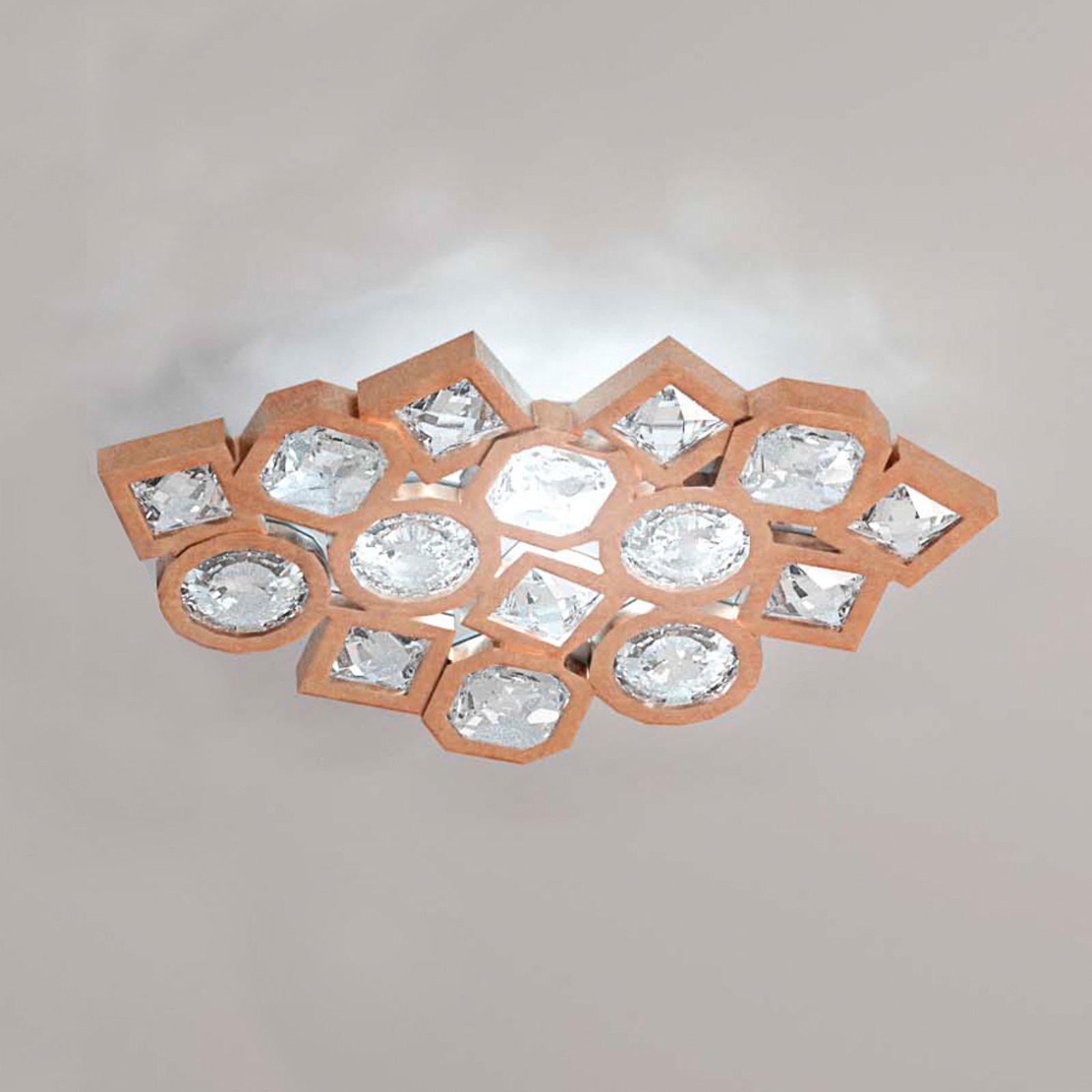 Stardust kobberfarget mosaikk-LED-vegglampe