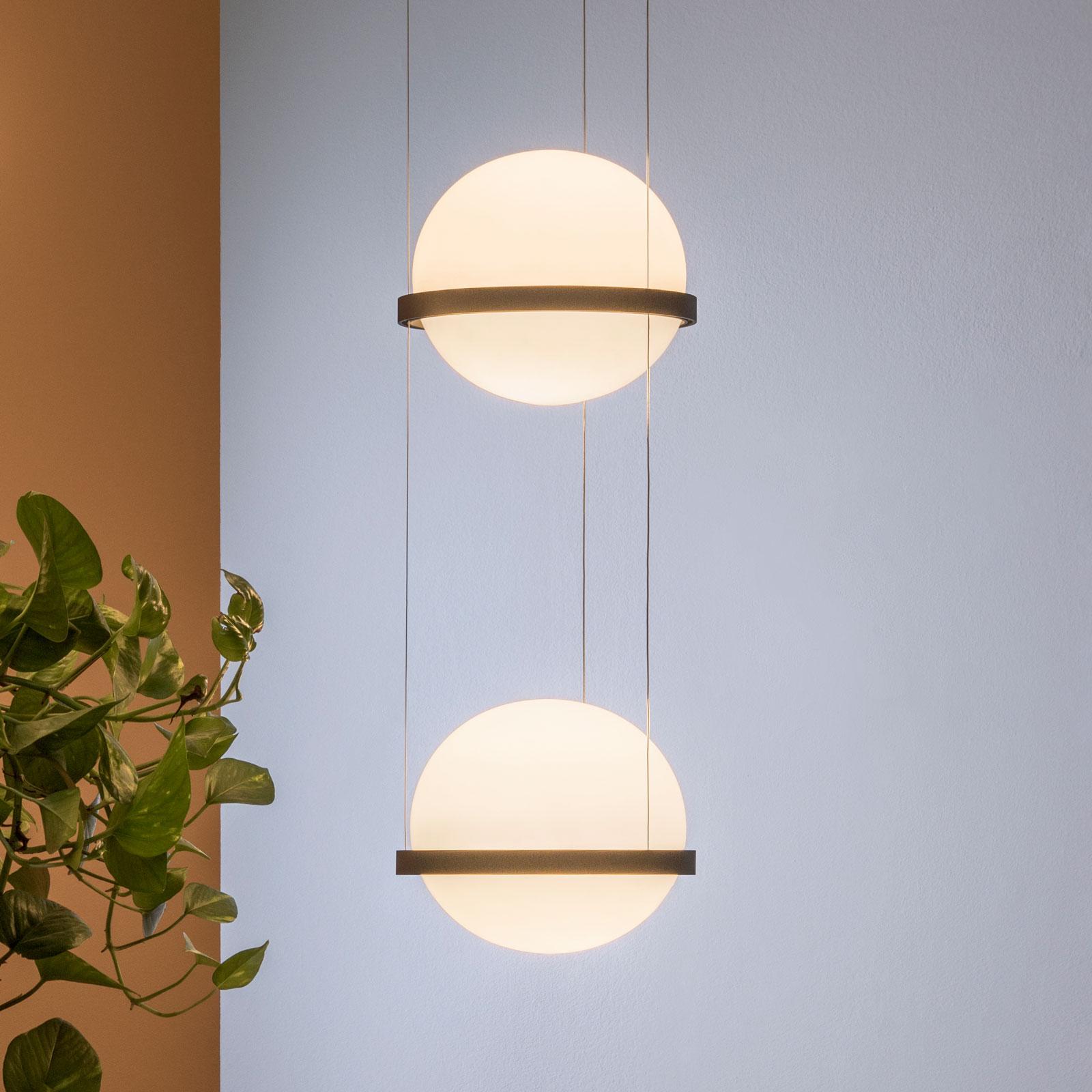 Vibia Palma 3726 LED-riippuvalo 2-lamp., grafiitti