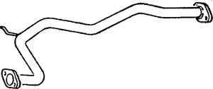 Pakoputki, Keskellä, MAZDA 626 III, 626 Coupé III, 626 Hatchback III, 626 Station Wagon III, F201-40-600, F202-40-600, F203-40-600, F263